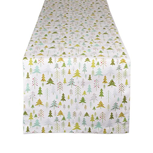 DII CAMZ10877 Table Runner, 14x72, Holiday Woods