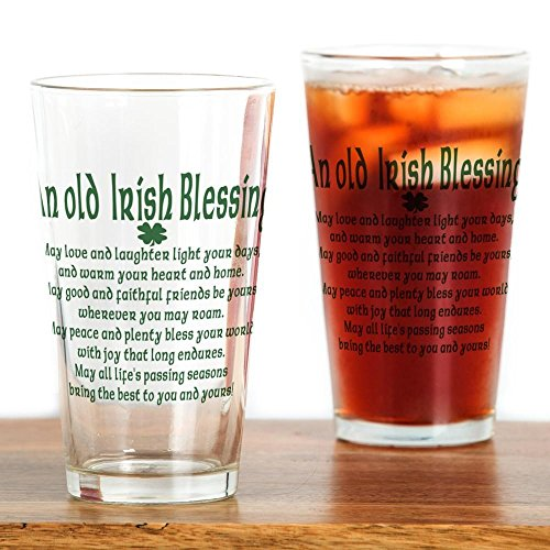 CafePress Old Irish Blessing Pint Glass Pint Glass, 16 oz. Drinking Glass