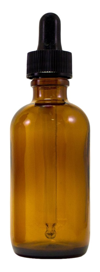 Premium Vials B38 24AM Boston Round Glass Bottle with Dropper 4 oz Capacity Amber Pack of 24