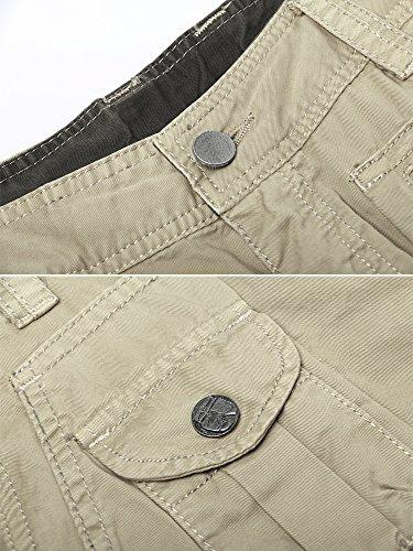 Pantalon Cargo Kaki Coton Homme Type Mince3380 Ochenta Poches Multi En 67vybgfY