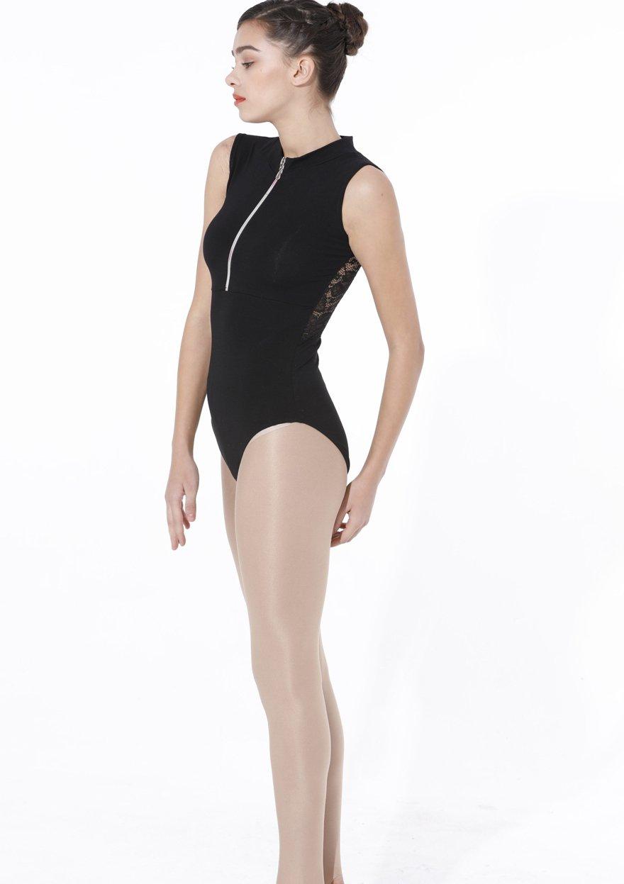 099819473f07 ModLatBal Womens Zipper Front Sleeveless Ballet Leotards Dance Gymnastics  Jumpsuit Dance Sports & Outdoors