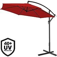 Deuba Parasol en Aluminium de Ø 300cm- 330cm avec Dispositif à manivelle et Protection UV 40+, Parasol pour Jardin/marché Disponible dans Plusieurs Couleurs