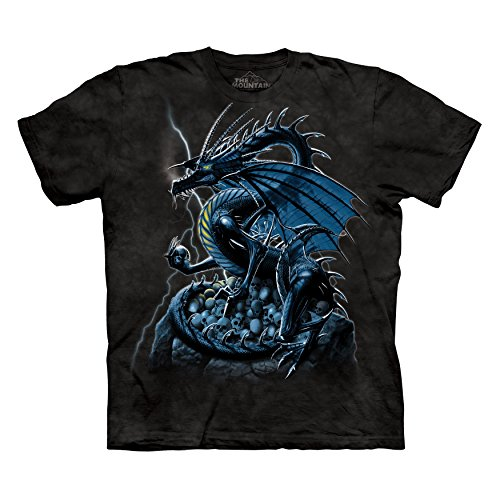- The Mountain Men's Skull Dragon T-Shirt Black 2XL