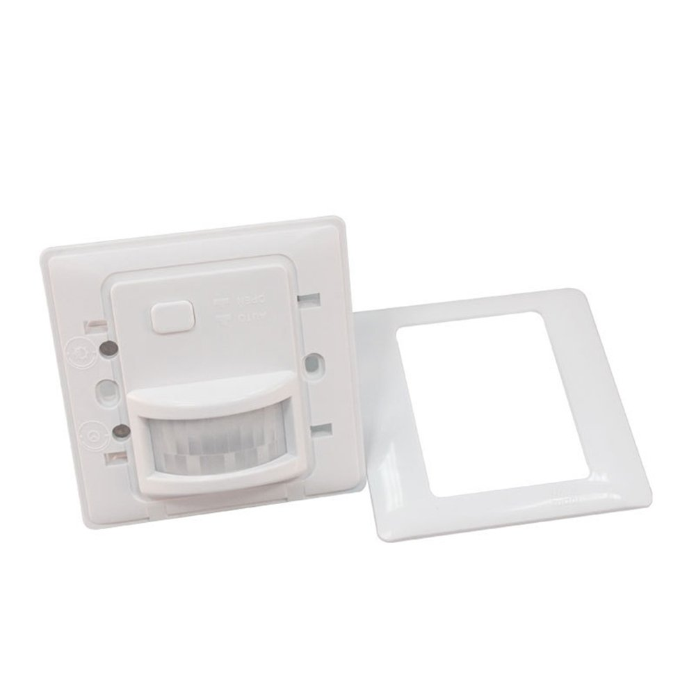 Elegant and Adorable Wall Mount Adjustable IR Infrared Motion Sensor Automatic Light Lamp Switch