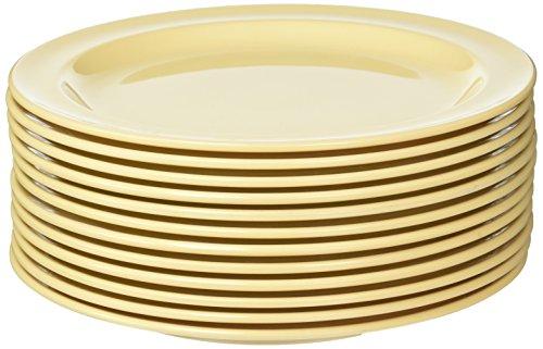 (Winco MMPR-8 Round Melamine Plate, 8-Inch, Tan)