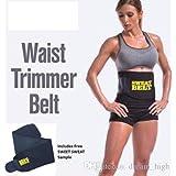 KRITAM Women Men Waist Trimmer Belt Weight Loss Sweat Band Wrap Fat Burner Tummy Stomach Sauna