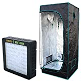 MarsHydro LED Grow Light (Mars II 400) Full Spectrum + Grow Tent (2' 3'' x2' 3'' x5' 3'') Full Complete Kits Units for Growing Plants and Vegetables,Only for Indoor