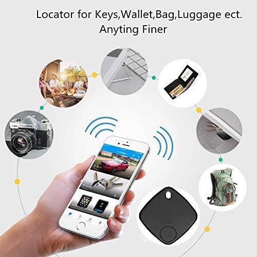 MUXAN Buscador de llaves dispositivo de seguimiento inal/ámbrico antip/érdida con aplicaci/ón para iOS y Android rastreador de localizaci/ón de largo alcance llavero no incluido