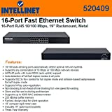 Intellinet 16 Port Fast Ethernet Rackmount Switch (520409)