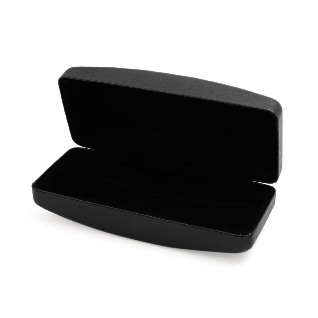 uxcell Black Faux Leather Clam Shell Sunglasses Hard Case Eyes Glasses Protector w Gift Box