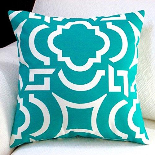 Artisan Pillows Outdoor Teal Modern Geometric Coastal Décor