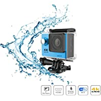 i-TecoSky WiFi Ultra HD 4K Sports Action Camera Cam Camcorder DVR DV Video 170D Wide Angle 2.0 LCD 30M Waterproof Outdoor Mini Helmet Action Video Camera Diving Recorder