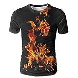 Flame Over The Calf Soccer Men Endearing Short Sleeve Sleep T-Shirt T