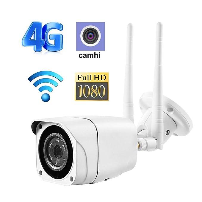 Bullet Inalámbrico Cámara WiFi gsm 3G 4G Tarjeta Sim 1080P HD ...