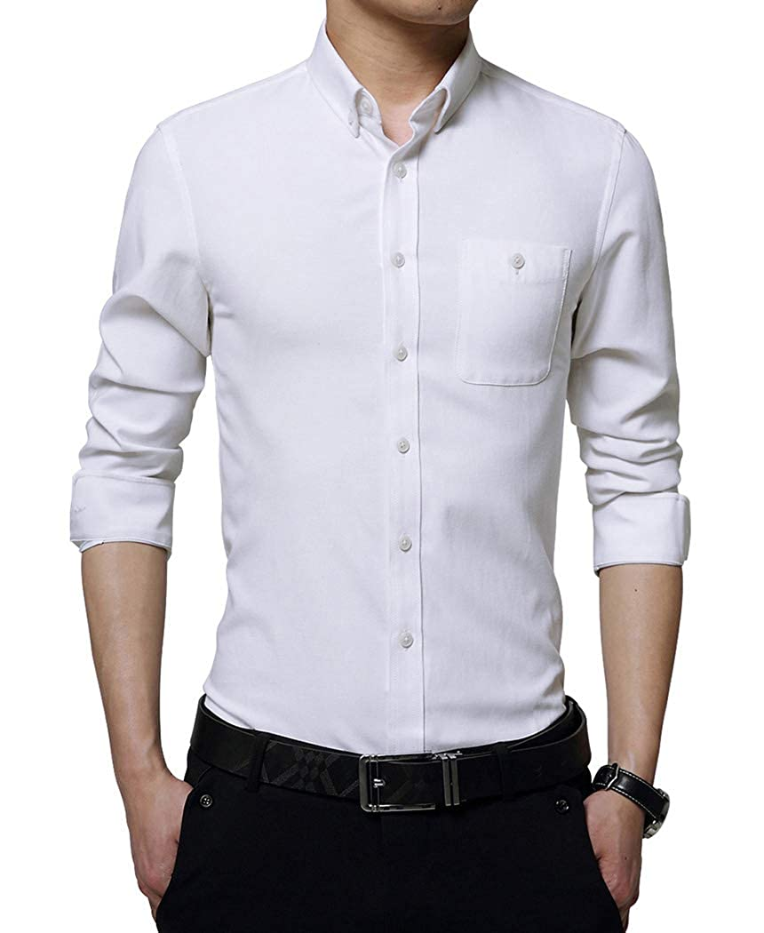 69508aa1c7d9 ... Solid color, Casual Slim Fit Button Down Dress Shirt Perfect for Casual,  Business, Office, Date, Party, Wedding, Etc Best gift for families, ...