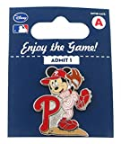 MLB Philadelphia Phillies Disney Mickey Wind Up Collectible Trading Pin