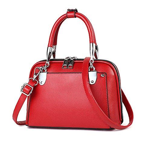 Meaeo Bolso Diagonal De Hombro De Moda Nuevo Bolso De Mujer Simple Y Versátil Negro Red