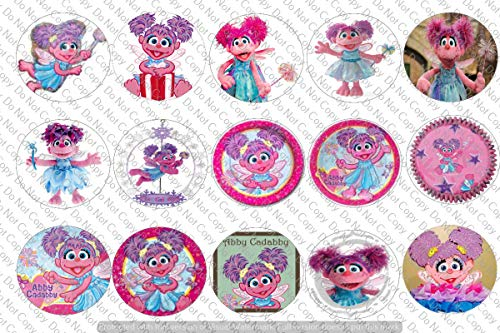 """60 Abby Cadabby Precut 1"""" Circle Bottle Cap Images/Cupcake for sale  Delivered anywhere in USA"""