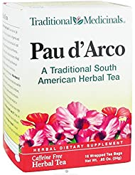 Traditional Medicinals Herb Tea Pau D Arco 16 Bag Value Bulk Multi Pack