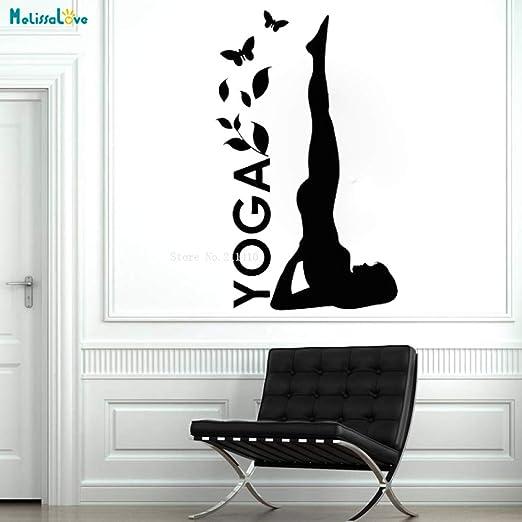 jiushixw Actividades Vinilo Tatuajes de Pared Yoga Pose Estudio ...