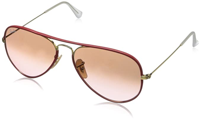 Ray-Ban AVIATOR FULL COLOR - ARISTA Frame PINK GRADIENT BROWN PHOTO Lenses 55mm Non