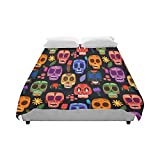 Artsadd Pattern Mexican Day Of The Dead Duvet Cover 86'' X 70'' Duvet Case Quilt Cover