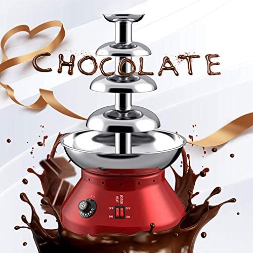 Byjia Fontaine À Chocolat À 4 Niveaux, Capacité De Chocolat De 1800 ML, Machine De Fusion Professionnelle À Cascade, pour Anniversaire Commercial Et Domestique Noël