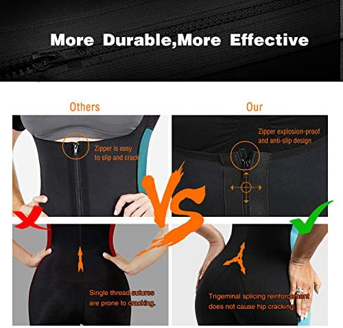 NonEcho Neoprene Sauna Full Shaper Sweat Body Suit Sleeve Slimming Shapewear Weight Loss 3