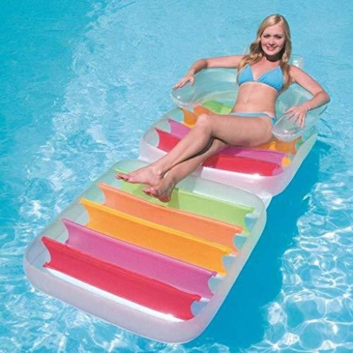 Selm Aufblasbarer Schwebebett Rückenlehne Umwelt-PVC Schwimmende Reihe Lounge Stuhl Draussen Folding Kind Wasser Spaß Spielzeug