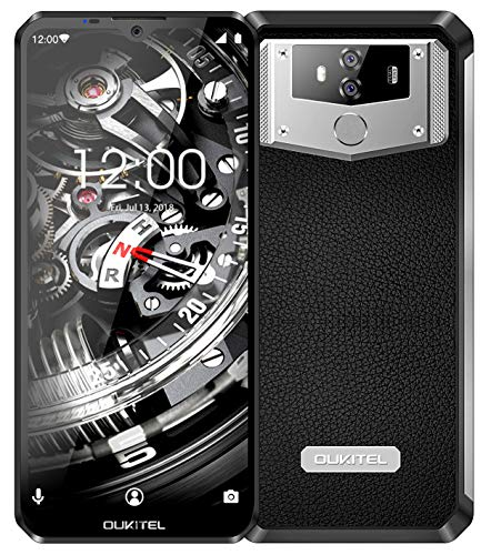 "OUKITEL K12 10000mAh Unlocked Smartphone, 6.3"" Screen 64GB 4G Unlocked Cell Phone, 6GB RAM Dual SIM Helio P35 Octa Core, 16MP+8MP Dual Camera Unlocked Phone NFC Face ID"