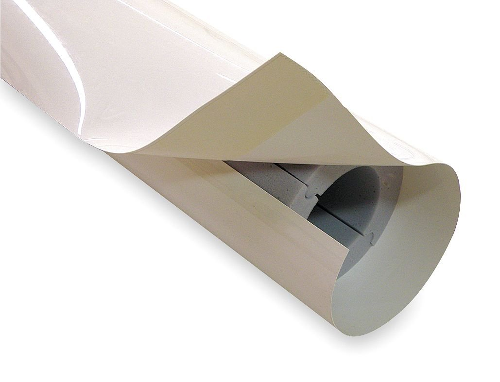 Techlite Insulation - 0879-0400IP100-PF-0920-01 - 1 Thick, Hinged with Self Sealing Lap Melamine Foam Pipe Insulation, 4 ft. Insulation Length