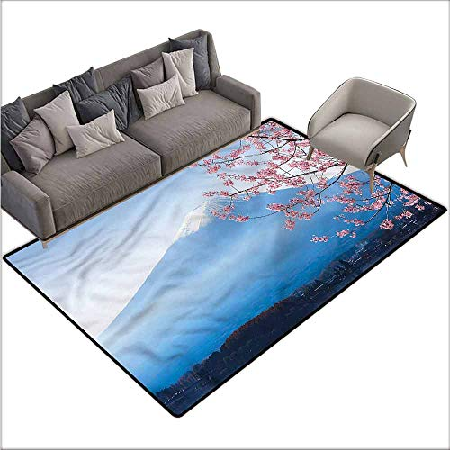 Kitchen Carpet Landscape,Mountain Fuji and Sakura 48