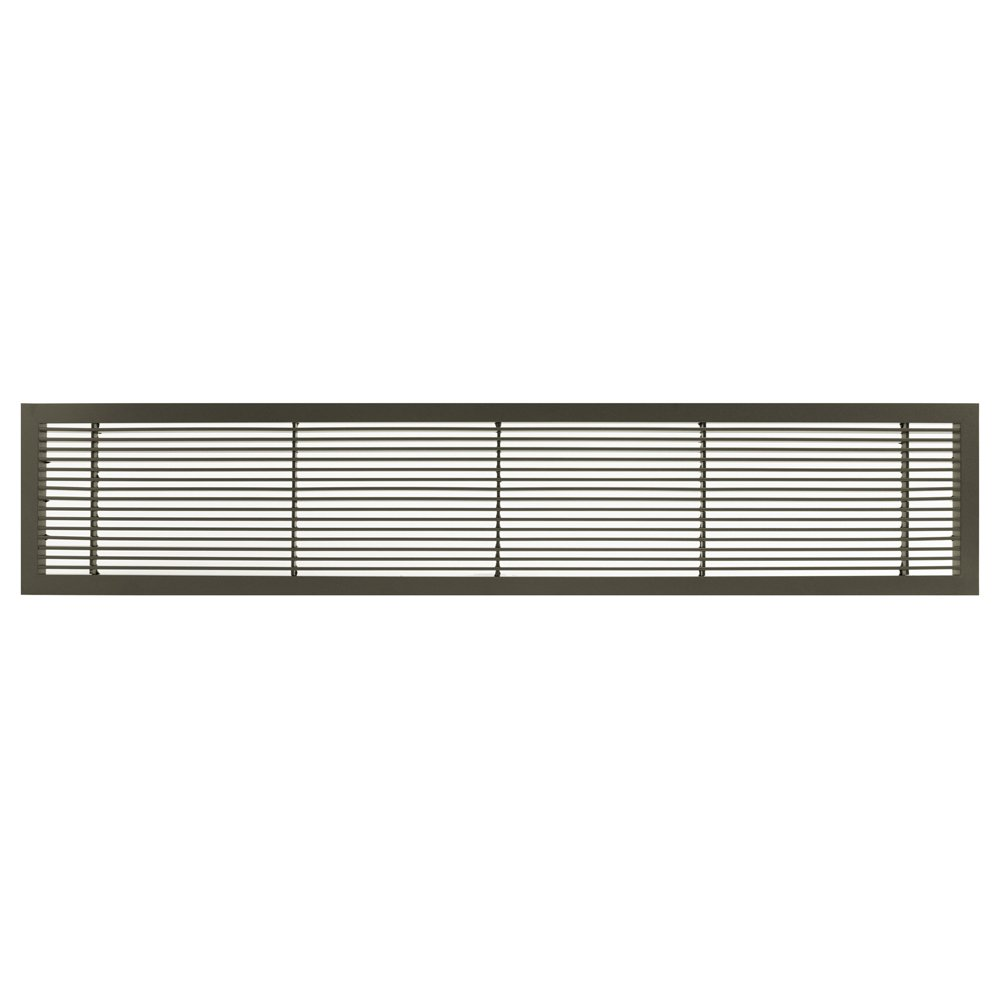 Architectural Grille 100042406 AG10 Series 4'' x 24'' Solid Aluminum Fixed Bar Supply/Return Air Vent Grille, Antique Bronze Finish by Architectural Grille
