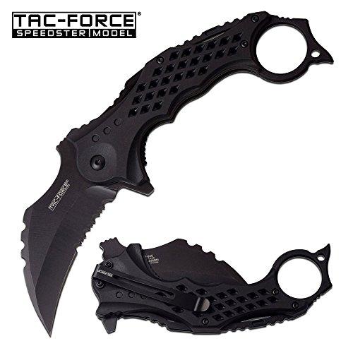 Tac Force Spring Assisted Tactical Knife Speedster (Black)