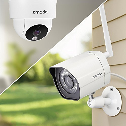 Zmodo 1080p Hd Nvr Wifi System 4 Hd Outdoor 4 Hd Indoor