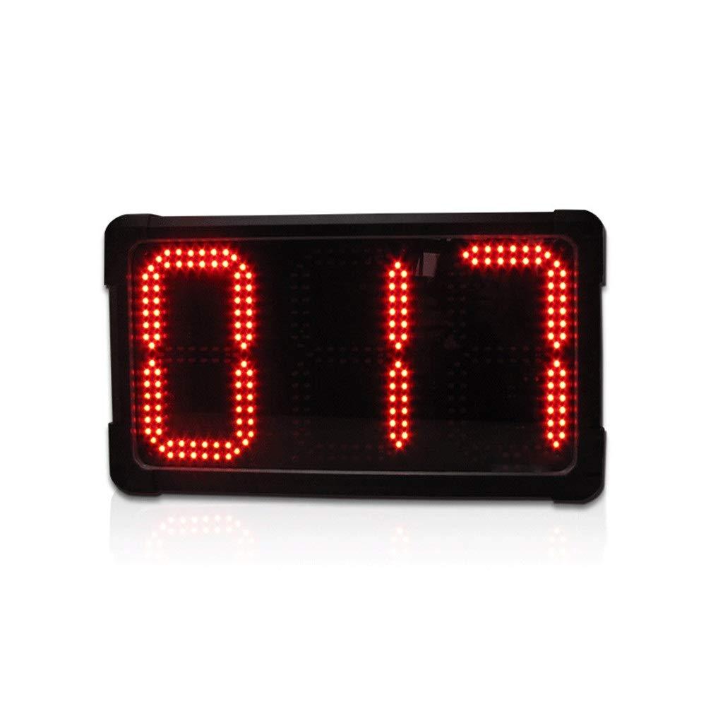 トレーニングタイマー 8インチの壁時計LEDデジタル多機能リモートコントロールトレーニングタイマーブラック さまざまな場面に適しています (色 : ブラック, サイズ : 38X20X7CM) ブラック 38X20X7CM