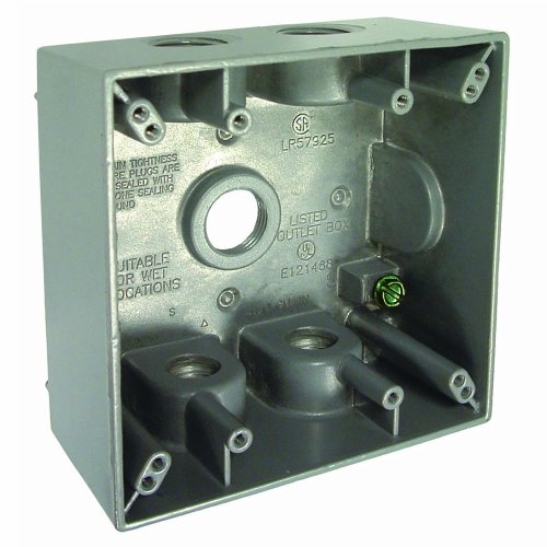 Raco Weatherproof Boxes - Hubbell Bell 5337-0 Bell Raco Infrared brooder Weatherproof Box, 2 Gang, 31 Cu-in X 4-9/16 in L X 4-1/2 in W, 5-1/2-Inch
