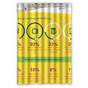 "Home Fashion Healthy games Shower curtain, 48""(w) x 72""(h), polyester, best for wife"
