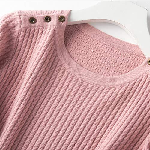 Maglia Con Lunga Xxxl Pink Manica Omasuwi 3xl Tondo Donna color Size Taglia S Da Pink Scollo BwqXHgd