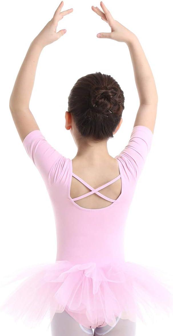 con volantes FEESHOW leotardo Vestido de bailarina de ballet para ni/ña para baile gimnasia