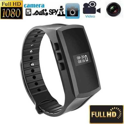 Spy Camcorder Watch (Hidden Camera Bracelet 1080P HD Covert DVR Video Recorder Smart Bands Camcorder – Black Adjustable Wristband)