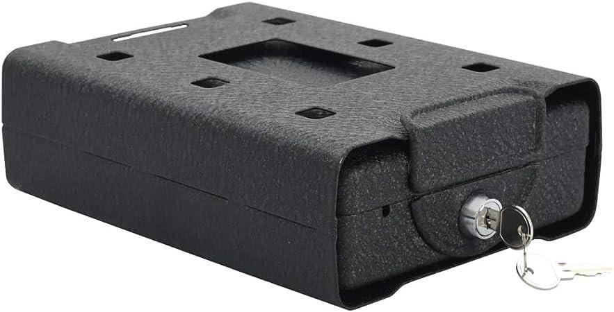 Festnight Caja de Seguridad Caja Fuerte Mecánica de Acero para Coche Negro 21,8x16x7 cm: Amazon.es: Hogar