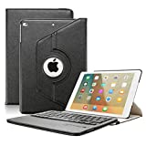 iPad 9.7 inch Keyboard Case - KVAGO Stylish 360 Degree Rotating Case with Detachable Wireless Bluetooth Keyboard for iPad 9.7 inch (A1822 A1823 ONLY - NOT Pro)- Black