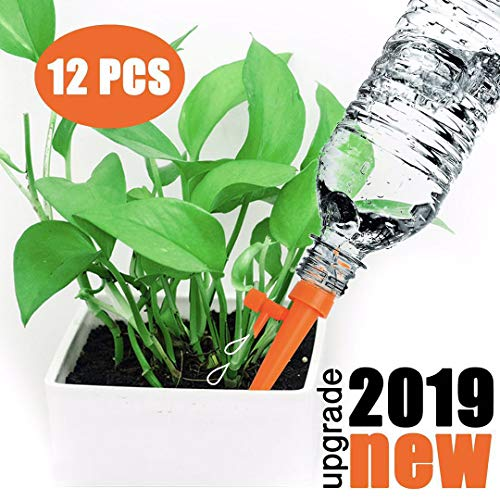 WeajaSlan Plant Self Watering Spikes System with Slow Release Control,Automatic Plant Irrigation System,Plant Watering Globes,Automatic Watering System for Potted Plants,Suitable for All Bottles