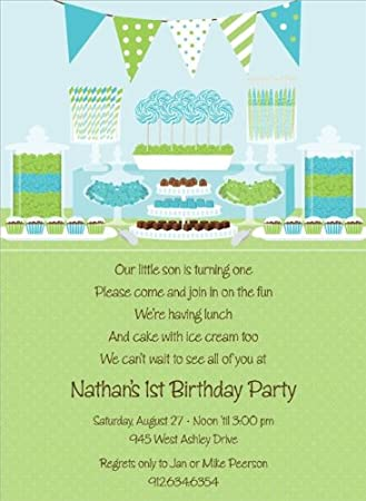 Amazon Com Noteworthy Collections 1st Boy Birthday Party