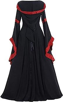 Dama Medieval Maxi Vestidos, Retro Estilo Vestido Celta para ...