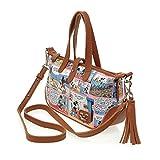 A107.Disney Mickey Mouse Women Cartoon Mini Tote Shoulder Cross Body Bag Handbag (Brown)
