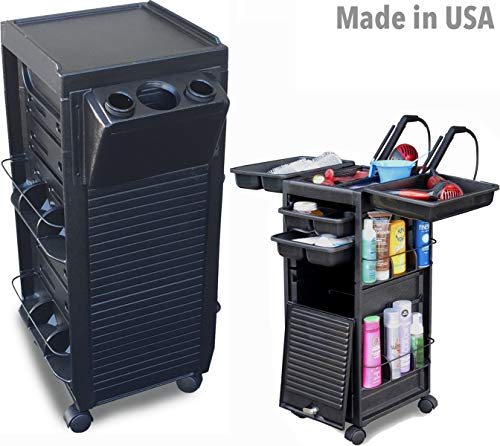 N20-PH Salon Utility Cart Roll-about Trolley Lockable w/Tool Holder Made in USA by Dina Meri