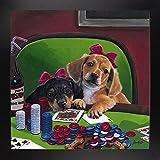 Poker Dogs 3 Framed Print 14.00''x14.00'' by Jenny Newland