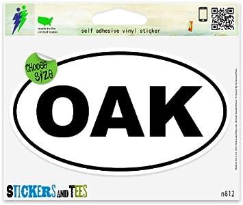 """Oakland OAK White City Oval car window bumper sticker decal 5/"""" x 3/"""""""